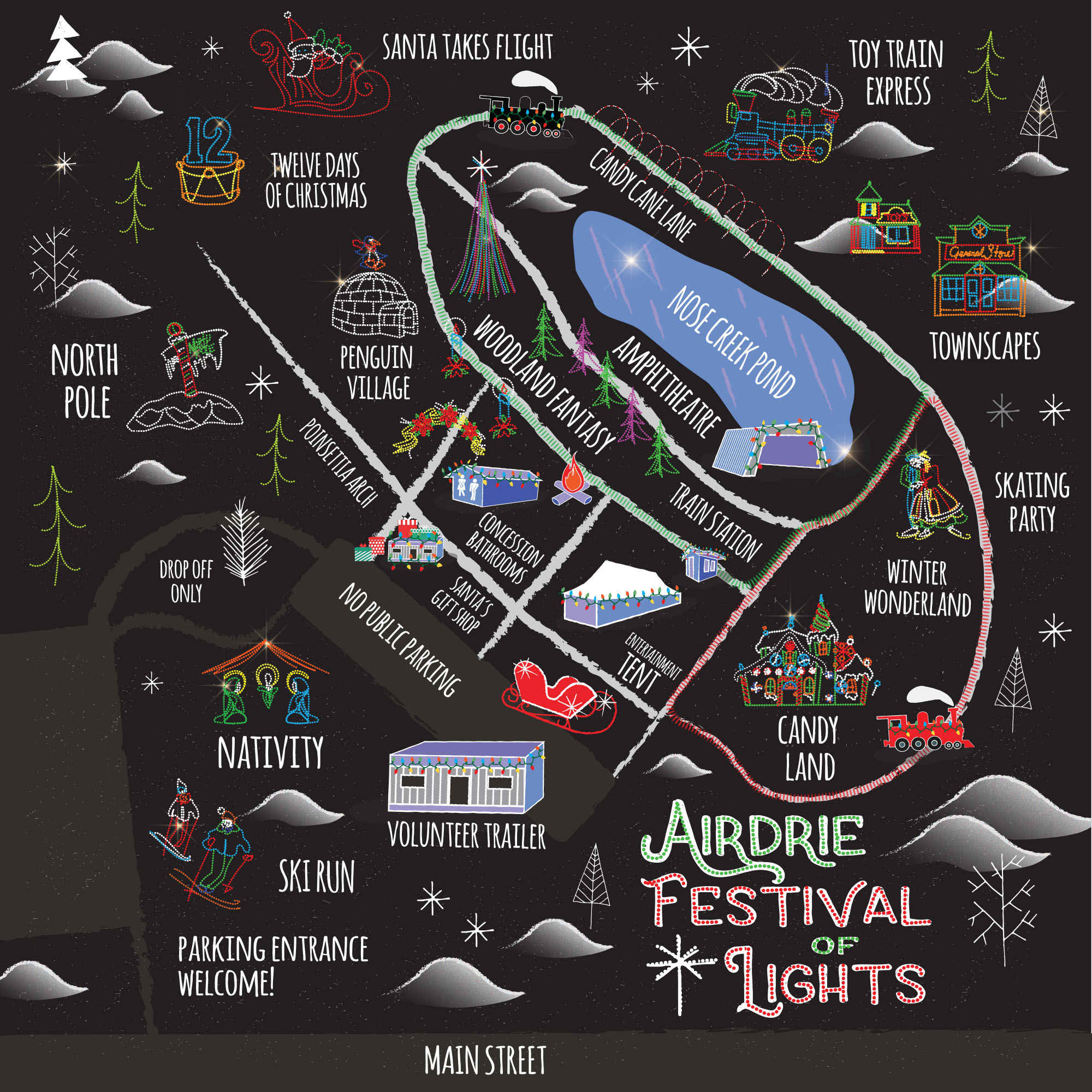 Airdrie Festival of Lights Map